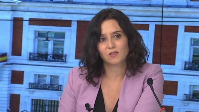La presidenta de la Comunidad de Madrid, Isabel Díaz Ayuso, en el Comité Ejecutivo Nacional.