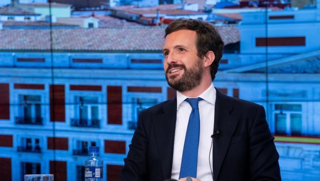 Pablo Casado, presidente del PP, este miércoles.