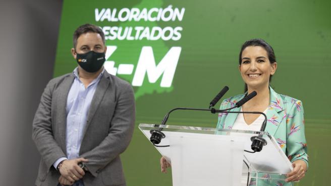 Santiago Abascal y Rocío Monasterio, este miércoles, tras la reunión del Comité de Acción Política.
