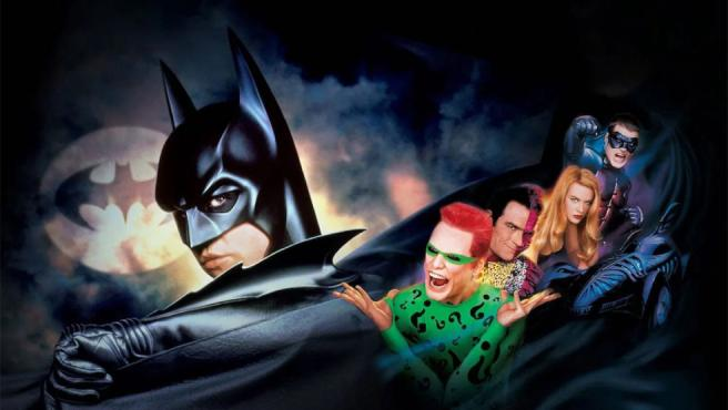 Uno de los carteles promocionales de 'Batman Forever'