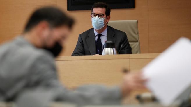 El abogado Javier Iglesias Redondo comparece este jueves por el caso Kitchen en el Congreso.