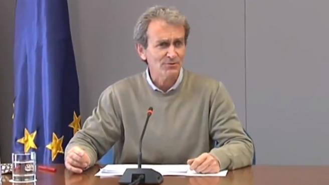 Fernando Simón en la rueda de prensa.