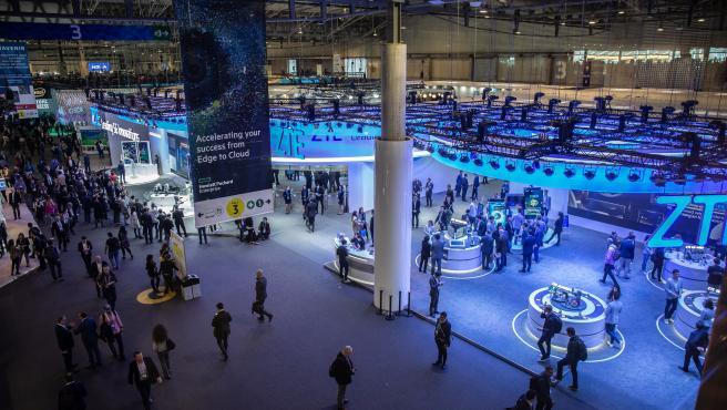 Uno de los pabellones del Mobile World Congress Barcelona 2019.