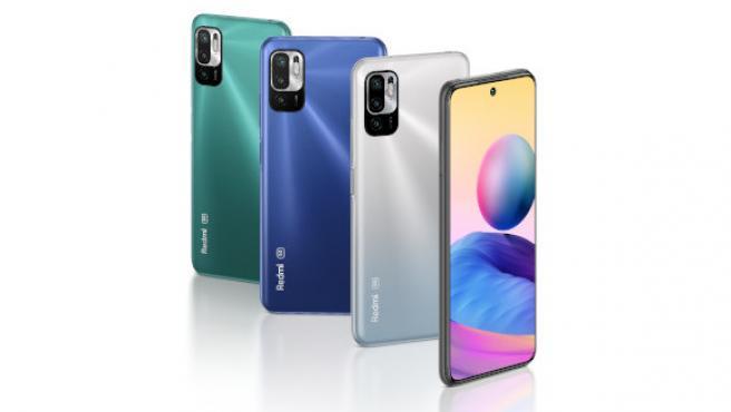 Los tres colores del Redmi Note 10 5G