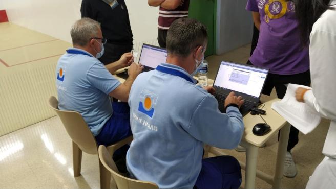 Vacunación de reclusos en una cárcel de Andalucía