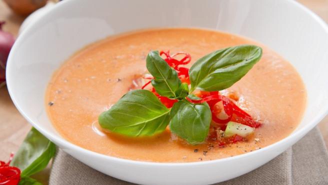 Imagen de archivo de un gazpacho.