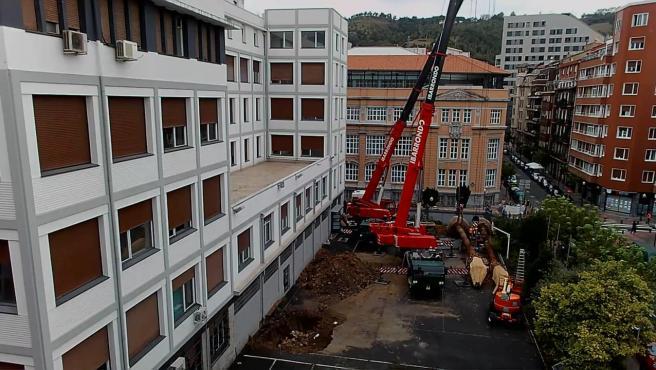 """La medición de CO2 en CEIP Cervantes en Bilbao muestra que la ventilación para el derribo de la BAM es """"insuficiente"""""""