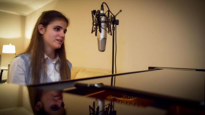 Laura Diepstraten, representante de España en el 'Eurovisión para ciegos'