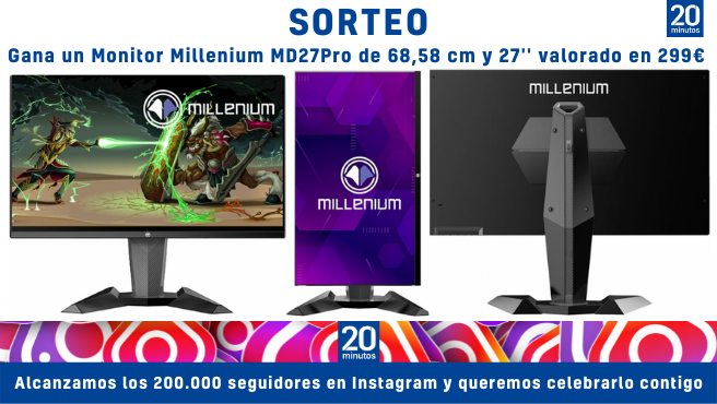 """Monitor Millenium MD27Pro de 27"""" sorteado por los 200.000 seguidores de Instagram"""