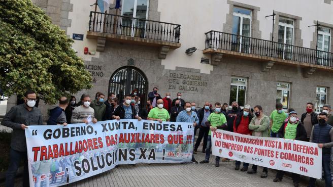 """Trabajadores de As Pontes exigen una reunión al Ministerio de Transición Ecológica y un """"plan de futuro"""""""