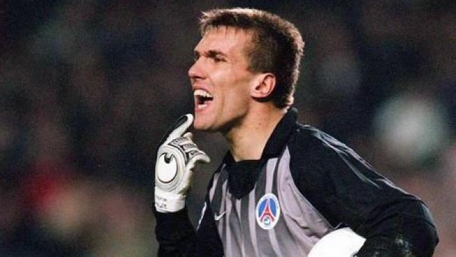 Christophe Revault, durante un partido con el PSG