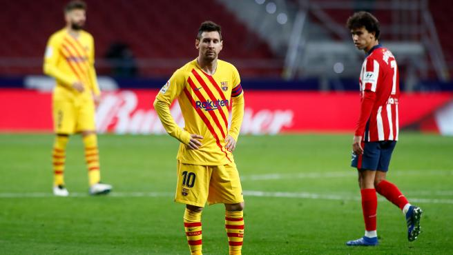 Messi, in an Atlético - Barcelona