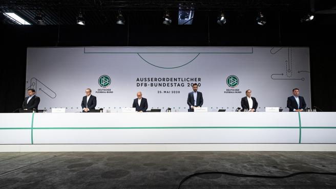 Dirigentes de la Federación Alemana de Fútbol.