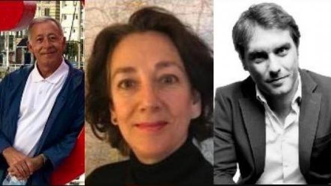 José Ramón Patterson, Carmen Vela y Rafael Latorre, ganadores del premio.