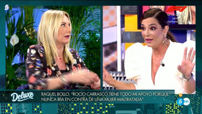 Raquel Bollo y Belén Rodríguez, en 'Sábado Deluxe'.