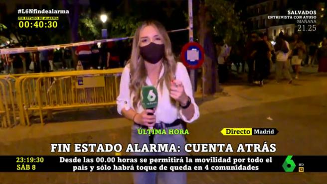 Un periodista de LaSexta agredido en Madrid este sábado.