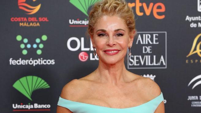 La actriz Belén Rueda posa en la 34.ª gala de los Premios Goya.