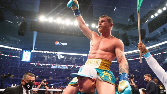 El boxeador mexicano Canelo Álvarez.