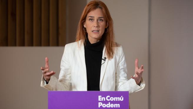 La candidata de En Comú Podem a la Presidencia de la Generalitat de Catalunya, Jéssica Albiach.