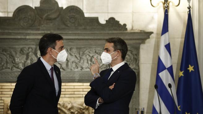 Pedro Sánchez, este lunes junto a Mitsotakis