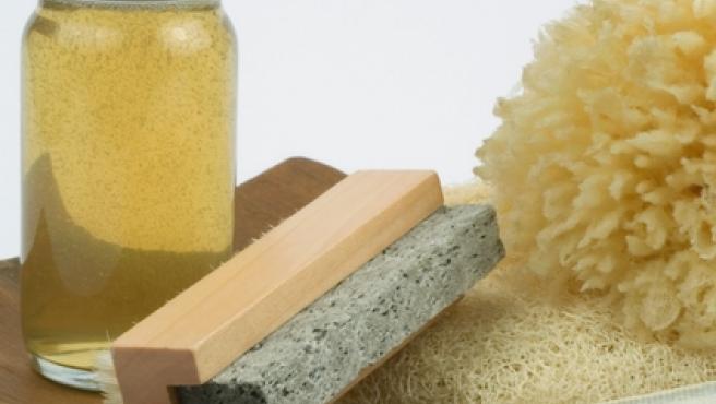 Productos para la higiene y exfoliación de la piel.