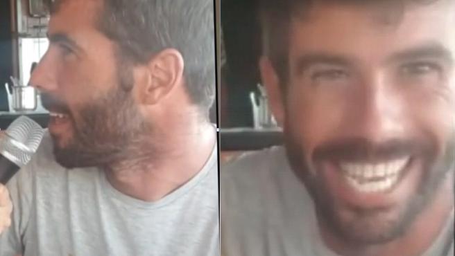 Tomás Gimeno, en las imágenes emitidas por Telecinco.