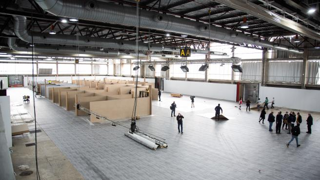 Comienza el desmontaje del hospital provisional en Ifeba de Badajoz, que nunca ha llegado a utilizarse