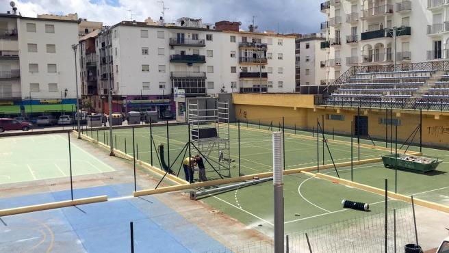 Comienzan los trabajos para la ampliación y mejora del complejo deportivo de Las Viñas de Estepona