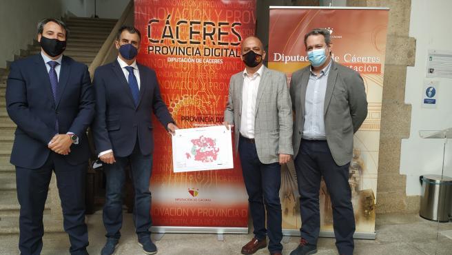 El 91,51% de la población de la provincia de Cáceres contará con fibra óptica en el primer semestre de este año