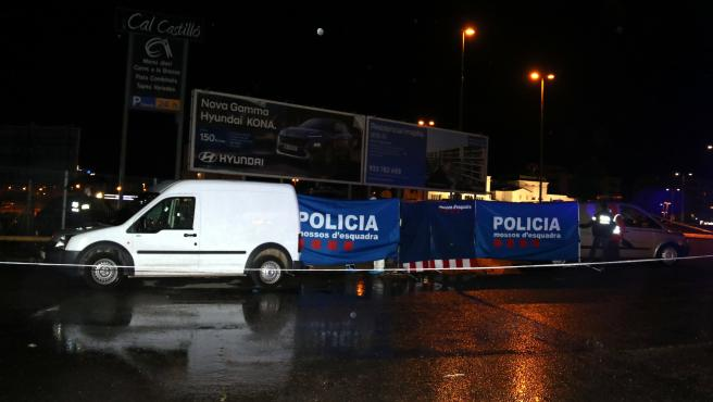 Área de servicio de la Ll-11 en Lleida donde ha aparecido un cadáver en el maletero de un vehículo.