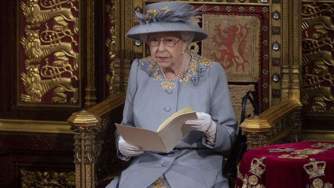La reina de Inglaterra, Isabel II en su discurso de apertura.