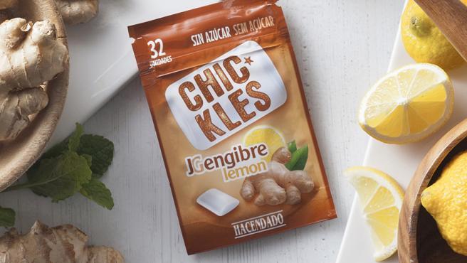 Los Chic-kles Jengibre y Limón de Hacendado de Mercadona.