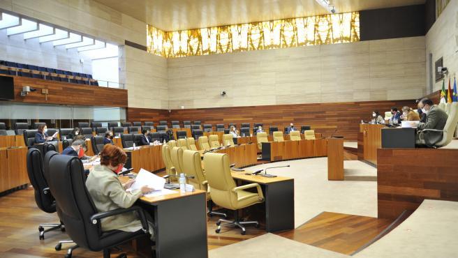 Los peajes, la liquidación del IVA o el Centro Psicosocial de Plasencia, a debate en el pleno de la Asamblea