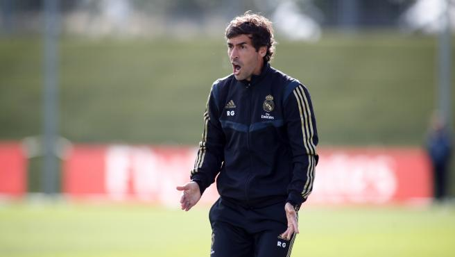 Raul Gonzalez Blanco, durante un partido del Real Madrid Castilla