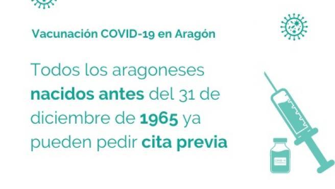 Se abren las vacunaciones en Aragón para los nacidos en 1964 y 1965