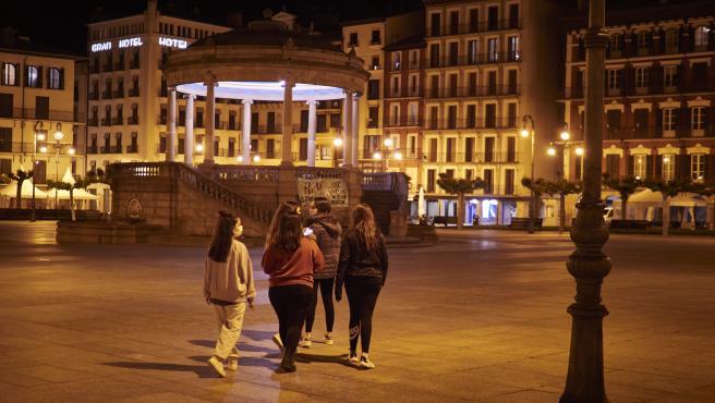 Ambiente en Pamplona tras el rechazo del TSJN del toque de queda en Navarra