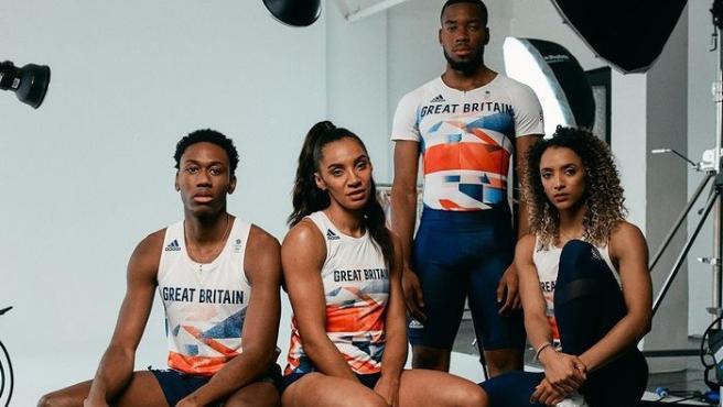 El equipo olímpico británico de atletismo.
