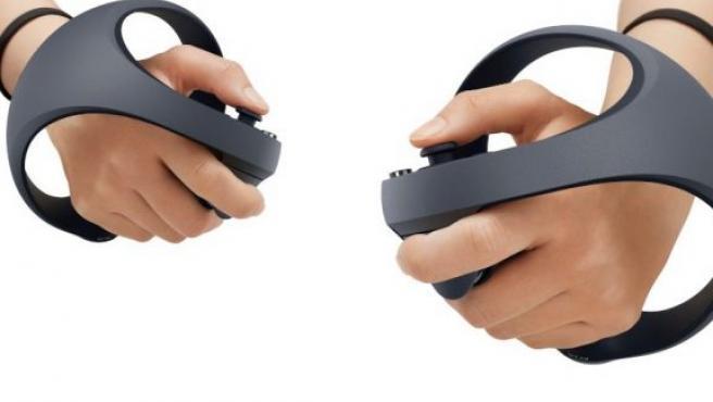 Imagen de los mandos de control para la próxima generación VR de la PS5.