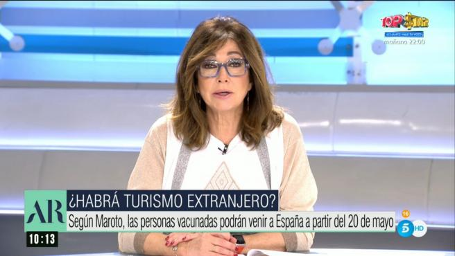 Ana Rosa Quintana, presentadora de Telecinco.