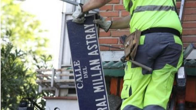El TSJM obliga al Ayuntamiento de Madrid a mantener la calle General Millán Astray en el callejero de Madrid