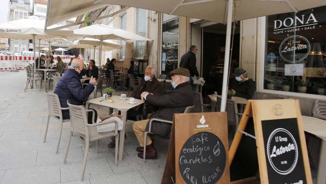 Reducción de capacidad de las terrazas de Vigo