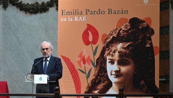 Santiago Muñoz Machado, director de la RAE, en un homenaje a Pardo Bazán en el centenario de su muerte.