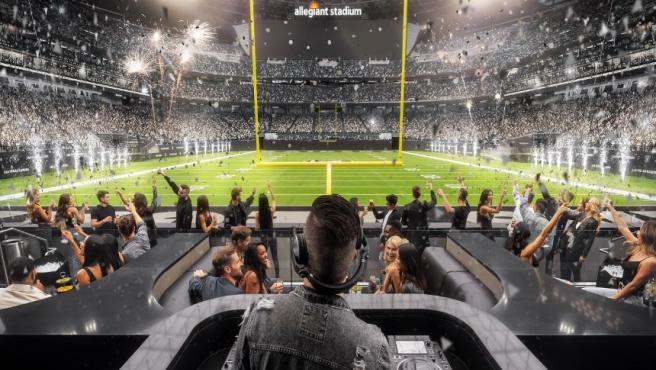El Wynn Field Club de Las Vegas Raiders de la NFL.