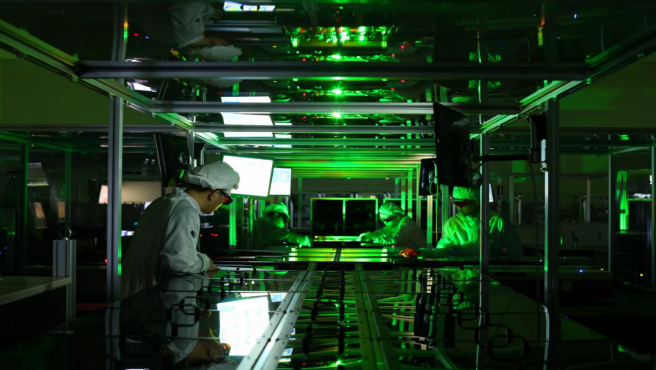 El sistema del láser tiene una intensidad de 1023 W/ cm².