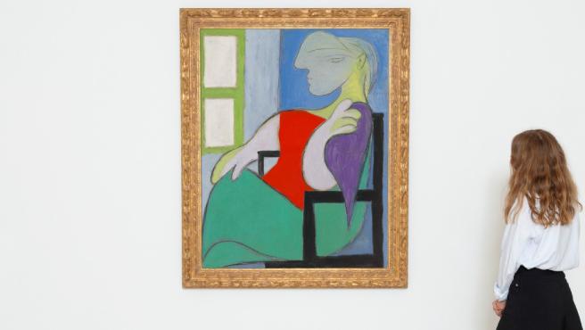 """Retrato 'Femme assise près d""""une fenêtre (Marie-Thérèse)' de Picasso."""