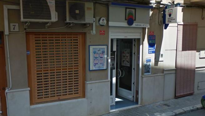 Imagen de una administración de loterías de Llosa de Ranes.