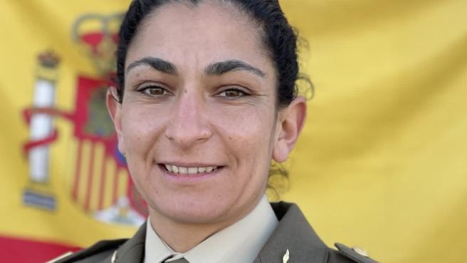 Imagen de la sargento de artillería Débora Grau Serra, fallecida durante un ejercicio táctico en Alicante.