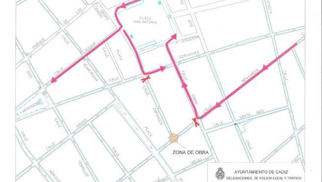 El Ayuntamiento anuncia cortes de tráfico por obras en las calles Zaragoza y Benjumeda desde este lunes