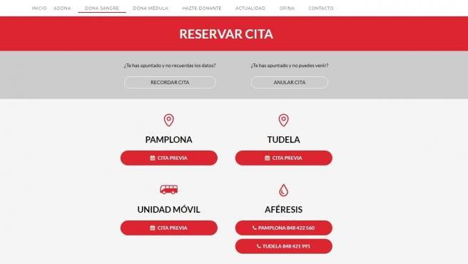 El Banco de Sangre y Tejidos de Navarra anima a la ciudadanía a acudir a donar con cita previa