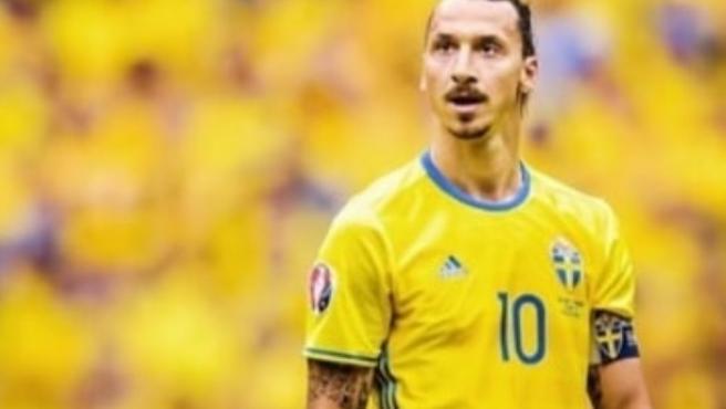 Ibra, con la selección de Suecia.